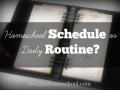 How to Develop a Daily Homeschool Routine