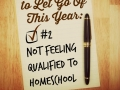 #2 Not Feeling Qualified to Homeschool