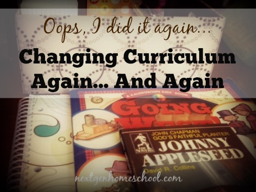 Oops, I did it again! Changing curriculum again… and again