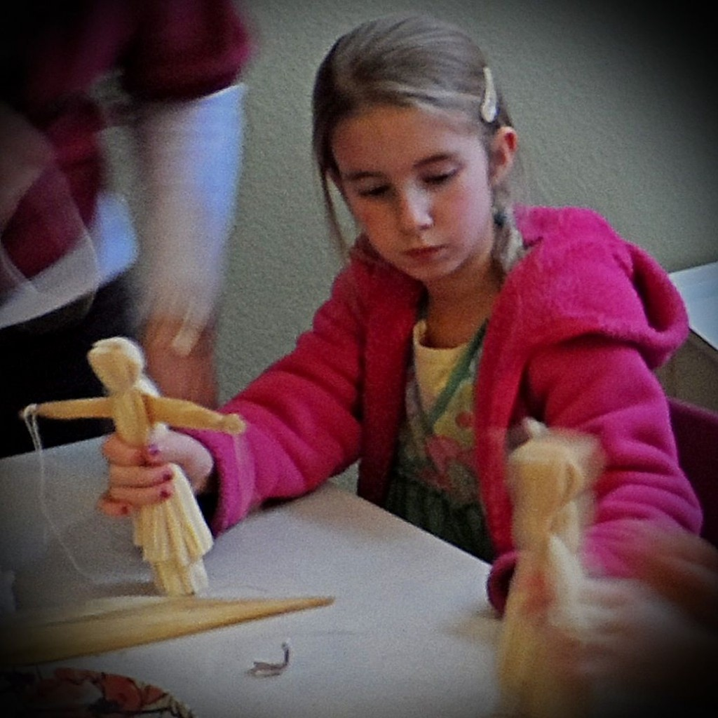 Making Corn Husk Dolls