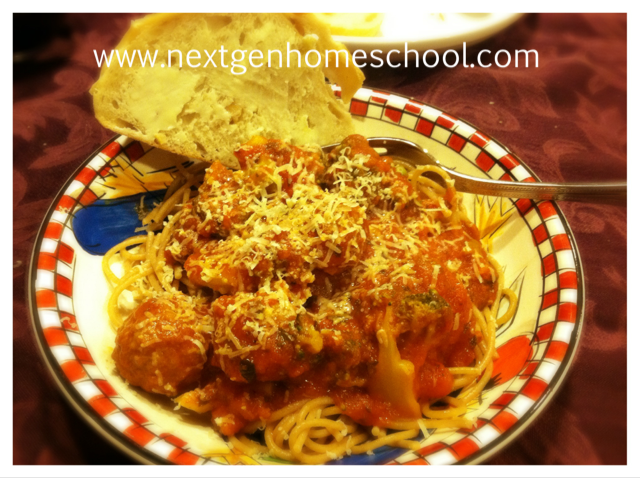 Solo parent homeschooling easy dinner