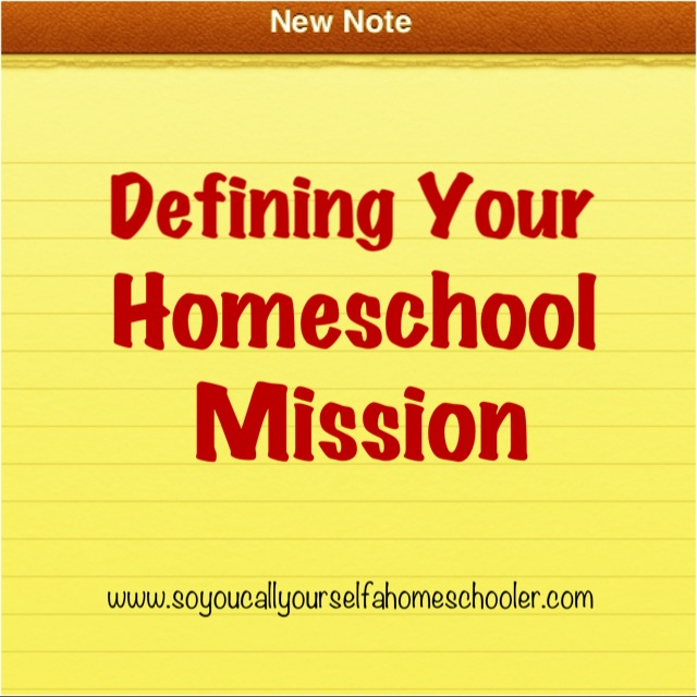 Do I need a homeschool mission statement?