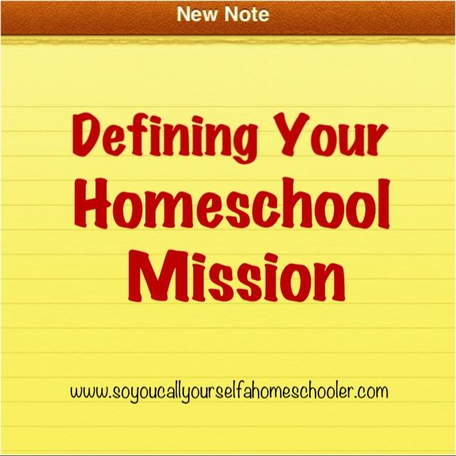 DefineHomeschoolMission