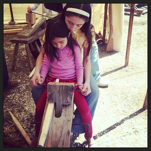 Living History Sisters Woodworking
