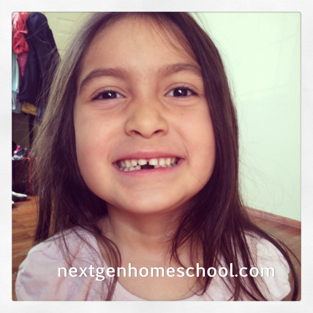 Homeschool Spring Break Lost Tooth
