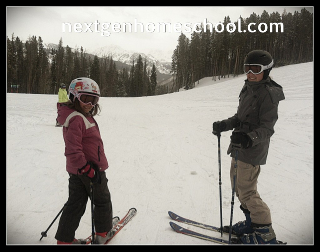 Homeschool Spring Break Skiing
