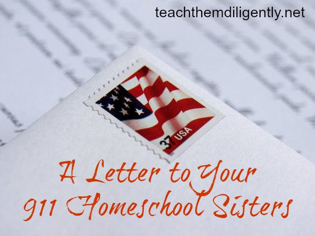 A Letter to Your Homeschool Sisters