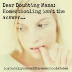 An Open Letter to the Doubting Mama