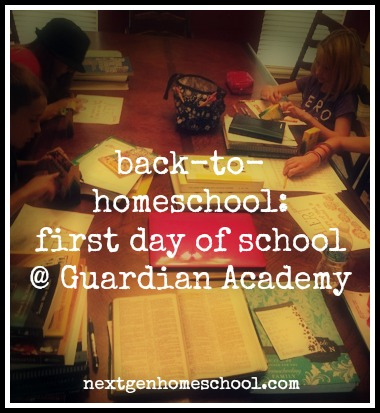 First Day of Homeschool at Guardian Academy