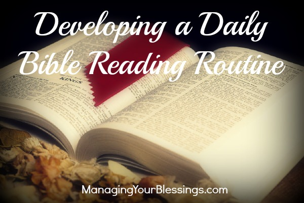Making Time for Personal Daily Bible Reading