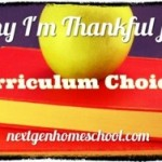 30 Days of Thanks: Curriculum Choice