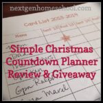 Simple Christmas Planner Review & Giveaway