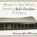 Part Two: Seeking God's Direction