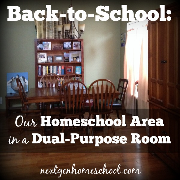 Homeschooling in a Dual-Purpose Room