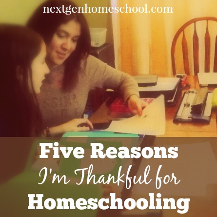 Five Reasons I'm Thankful for Homeschooling